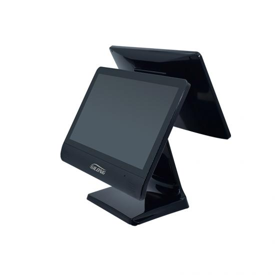 Dual Screen Black Point Of Sale Machine